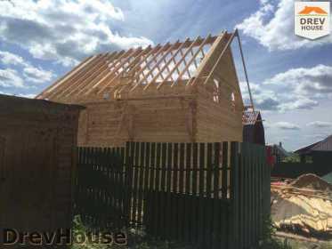 Строительство дома из бруса в поселке Яхромские зори   фаза 17