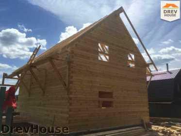 Строительство дома из бруса в поселке Яхромские зори   фаза 18