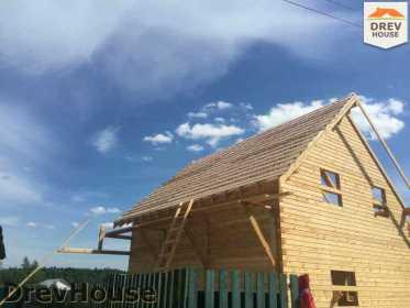 Строительство дома из бруса в поселке Яхромские зори   фаза 19