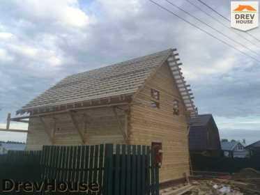 Строительство дома из бруса в поселке Яхромские зори   фаза 20
