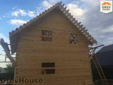 Строительство дома из бруса в поселке Яхромские зори   фаза 21