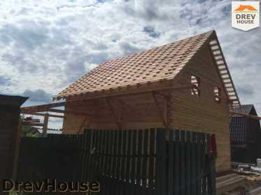 Строительство дома из бруса в поселке Яхромские зори   фаза 24