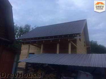 Строительство дома из бруса в поселке Яхромские зори   фаза 25