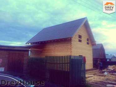 Строительство дома из бруса в поселке Яхромские зори   фаза 26