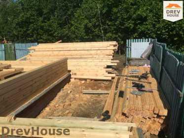 Строительство дома из бруса в поселке Яхромские зори   фаза 3