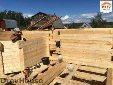 Строительство дома из бруса в поселке Яхромские зори   фаза 4