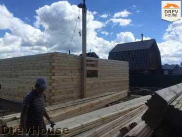 Строительство дома из бруса в поселке Яхромские зори   фаза 5