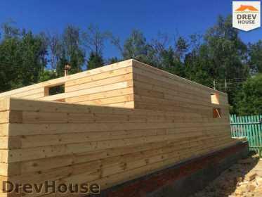Строительство дома из бруса в поселке Яхромские зори   фаза 6