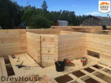 Строительство дома из бруса в поселке Яхромские зори   фаза 7