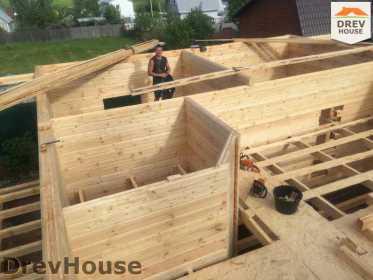 Строительство дома из бруса в поселке Яхромские зори   фаза 8