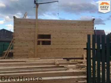 Строительство дома из бруса в поселке Яхромские зори   фаза 9