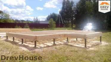 Строительство дома из бруса в селе Богословское   фаза 1