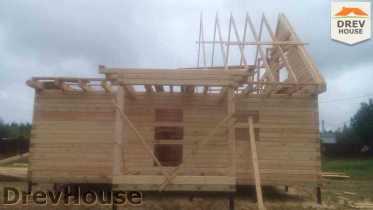 Строительство дома из бруса в селе Богословское   фаза 10