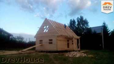 Строительство дома из бруса в селе Богословское   фаза 11