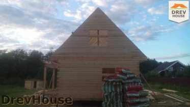 Строительство дома из бруса в селе Богословское   фаза 12