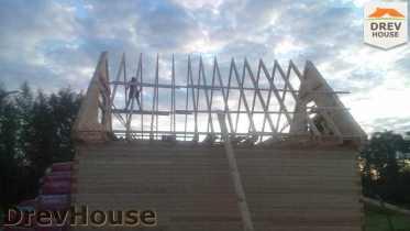 Строительство дома из бруса в селе Богословское   фаза 13