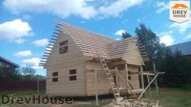 Строительство дома из бруса в селе Богословское   фаза 14