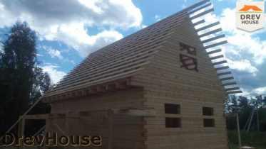Строительство дома из бруса в селе Богословское   фаза 15