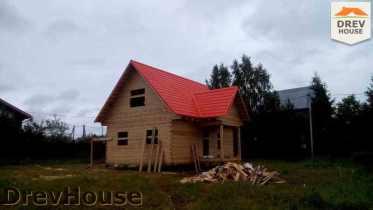 Строительство дома из бруса в селе Богословское   фаза 16