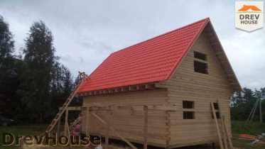 Строительство дома из бруса в селе Богословское   фаза 17