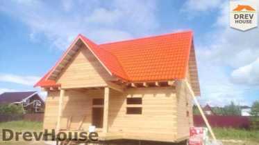 Строительство дома из бруса в селе Богословское   фаза 18