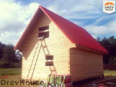Строительство дома из бруса в селе Богословское   фаза 19