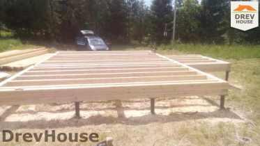 Строительство дома из бруса в селе Богословское   фаза 2