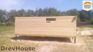 Строительство дома из бруса в селе Богословское   фаза 3