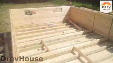 Строительство дома из бруса в селе Богословское   фаза 4