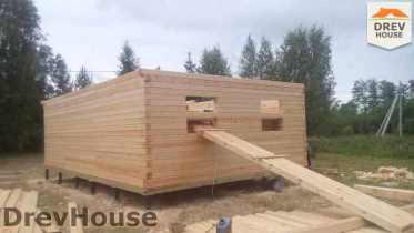 Строительство дома из бруса в селе Богословское   фаза 5