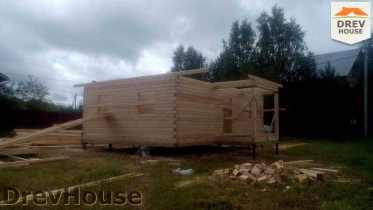 Строительство дома из бруса в селе Богословское   фаза 6