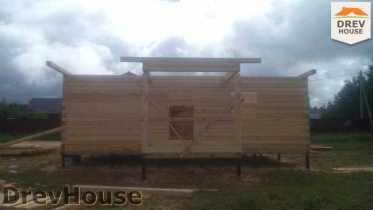 Строительство дома из бруса в селе Богословское   фаза 7
