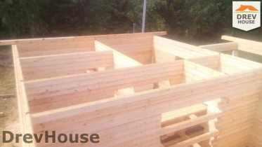 Строительство дома из бруса в селе Богословское   фаза 8