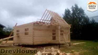Строительство дома из бруса в селе Богословское   фаза 9