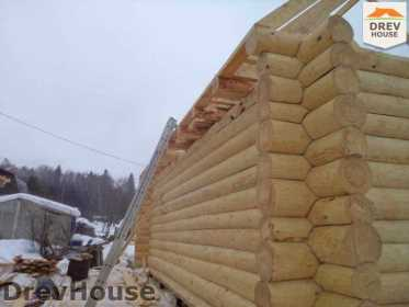 Строительство сруба дома из бревна в деревне Авдотьино   фаза 10