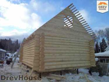 Строительство сруба дома из бревна в деревне Авдотьино   фаза 12