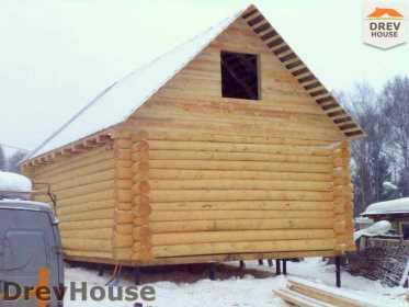 Строительство сруба дома из бревна в деревне Авдотьино   фаза 14