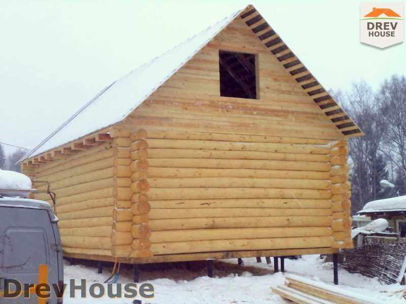 Фоторепортаж строительства сруба дома из бревна Домодедовский р-н. д. Авдотьино, МО