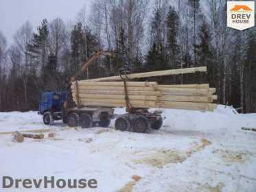 Строительство сруба дома из бревна в деревне Авдотьино   фаза 2