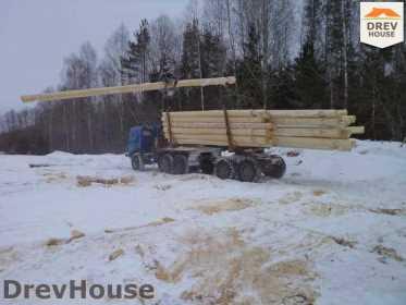 Строительство сруба дома из бревна в деревне Авдотьино   фаза 3