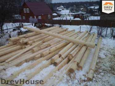 Строительство сруба дома из бревна в деревне Авдотьино   фаза 5