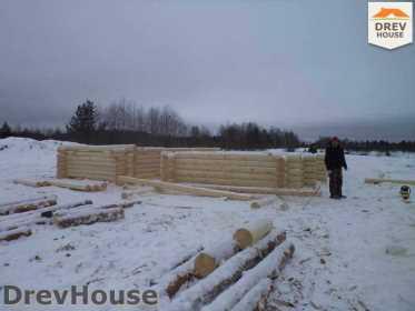 Строительство сруба дома из бревна в деревне Авдотьино   фаза 6