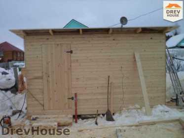 Строительство сруба дома из бревна в деревне Авдотьино   фаза 8