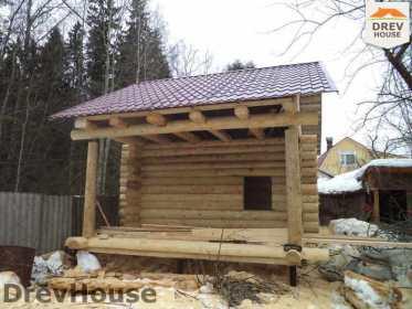 Строительство сруба дома из бревна в поселке Ченцы   фаза 4