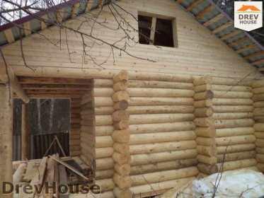 Строительство сруба дома из бревна в поселке Ченцы   фаза 5