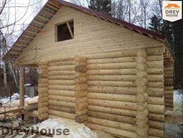 Строительство сруба дома из бревна в поселке Ченцы   фаза 6