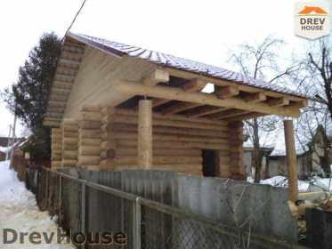 Строительство сруба дома из бревна в поселке Ченцы   фаза 7