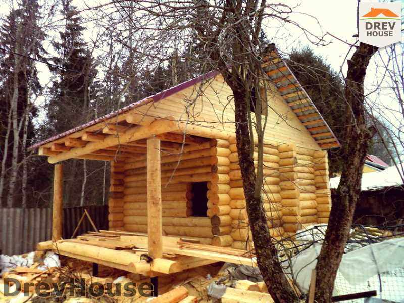 Фоторепортаж строительства сруба дома из бревна в Волоколамском р-н, пос. Ченцы