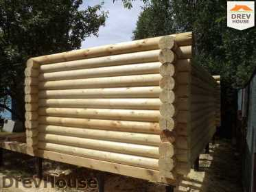 Строительство сруба дома из бревна в поселке Пущино   фаза 10