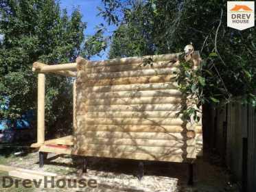 Строительство сруба дома из бревна в поселке Пущино   фаза 12